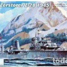 Maquetas: DESTRUCTOR ALEMAN ZERSTORER Z-28 1945 II GUERRA MUNDIAL TRUMPETER1/700- ESTRENAR COMPLETO-PRECINTADO. Lote 218282531