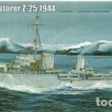Maquetas: DESTRUCTOR ALEMAN ZERSTORER Z-25 1944 II GUERRA MUNDIAL TRUMPETER1/350- ESTRENAR COMPLETO-PRECINTADO. Lote 218291007