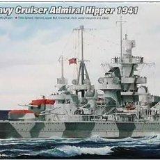 Maquetas: CRUCERO PES ALEMAN ADM.HIPPER 1941 II GUERRA MUNDIAL TRUMPETER 1/700. A ESTRENAR COMPLETO-PRECINTADO. Lote 218239125