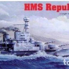 Maquetas: ACORAZADO INGLES HMS REPULSE 1941-II GUERRA MUNDIAL-TRUMPETER1/350-ESTRENAR-COMPLETO-PRECINTADO. Lote 218296301