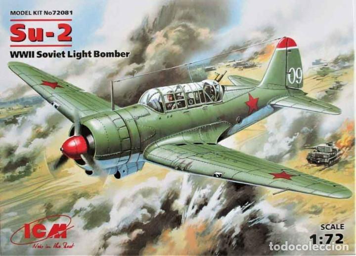 MASQUETA DEL BOMBARDERO LIGERO SOVIÉTICO SUJOI SU-2 DE ICM A ESCALA 1/72 (Juguetes - Modelismo y Radio Control - Maquetas - Aviones y Helicópteros)
