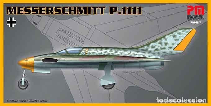 MAQUETA DEL ALA VOLANTE EXPERIMENTAL ALEMANA MESSERSCHMITT P-1111 DE PM MODEL A 1/72 (Juguetes - Modelismo y Radio Control - Maquetas - Aviones y Helicópteros)