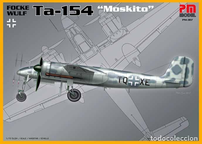 MAQUETA DEL CAZA NOCTURNO FOCKE WULF TA-154 MOSKITO DE PM MODEL A 1/72 (NUEVA PRESENTACIÓN) (Juguetes - Modelismo y Radio Control - Maquetas - Aviones y Helicópteros)