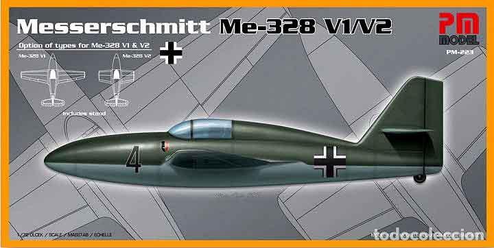 MAQUETA DEL PROTOTIPO DE CAZA MESSERSCHMITT ME 328V1/V2 DE PM MODEL A ESCALA 1/72 (Juguetes - Modelismo y Radio Control - Maquetas - Aviones y Helicópteros)