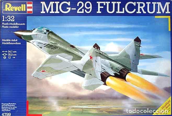 MAQUETA DEL CAZA RUSO MIKOYAN GUREVICH MIG-29 FULCRUM DE REVELL A ESCALA 1/32 (OCASIÓN) (Juguetes - Modelismo y Radio Control - Maquetas - Aviones y Helicópteros)
