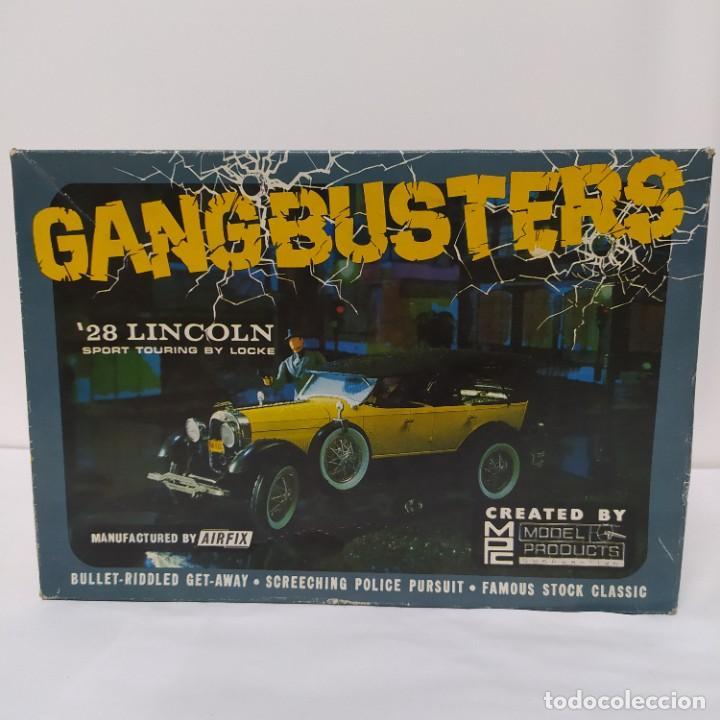 GANGBUSTERS 28 LINCOLN SPORT TOURING BY LOCKE 1/25 AIRFIX/MPC. AÑO 1965. SIN MONTAR, NUEVO. (Juguetes - Modelismo y Radiocontrol - Maquetas - Coches y Motos)