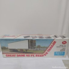 Maquetas: GREAT DANE 40 FT. REEFER TRAILER ERTL 1/25. PRECINTADO SIN ABRIR. Lote 218829157