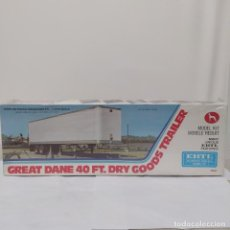Maquetas: GREAT DANE 40 FT. DRY GOODS TRAILER ERTL 1/25. PRECINTADO SIN ABRIR. Lote 218829685
