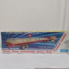 Maquetas: GREAT DANE EXTENDABLE HEAVY DUTY FLATBED TRAILER ERTL 1/25. PRECINTADO SIN ABRIR. Lote 218830113