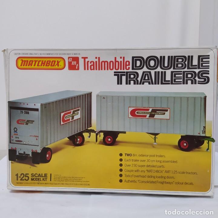TRAILMOBILE DOUBLE TRAILERS 1/25 AMT/ MATCHBOX. NUEVO Y COMPLETO. (Juguetes - Modelismo y Radiocontrol - Maquetas - Coches y Motos)