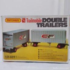 Maquetas: TRAILMOBILE DOUBLE TRAILERS 1/25 AMT/ MATCHBOX. NUEVO Y COMPLETO.. Lote 277140528