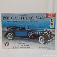 Maquetas: 1931 CLASSIC CADILLAC V16 SPORT PHAETON FLEETWOOD 1/25 JO-HAN. NUEVO SIN ABRIR. Lote 219096532