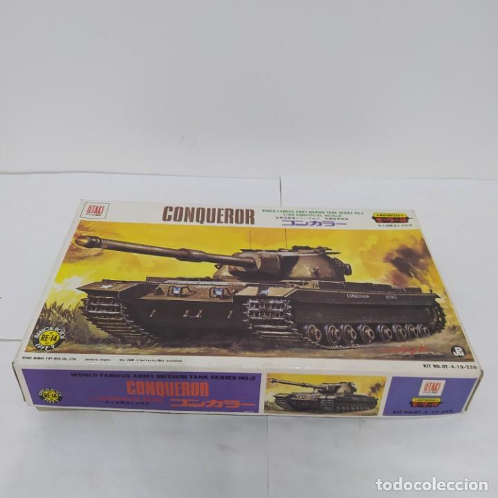 Maquetas: Army medium tank conqueror 1/80 Otaki. motor eléctrico Nuevo sin abrir - Foto 2 - 219155070