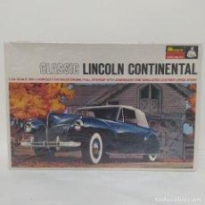 Maquettes: CLASSIC LINCOLN CONTINENTAL 1/24 MONOGRAM. NUEVO Y COMPLETO. Lote 219216197