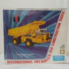 Maquetas: INTERNATIONAL PAY HAULER 350 CONSTRUCTION TRUCK ERTL 1/25. CAJA PRECINTADA. Lote 219317143