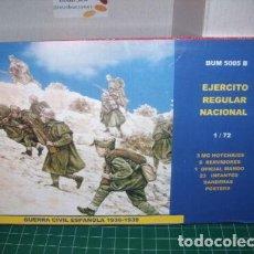 Maquetas: BUM 1/72 GUERRA CIVIL / EJERCITO REGULAR NACIONAL, SPANISH CIVIL WAR. Lote 219599963