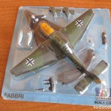Maquetas: RBA: AVIONES Y HELICOPTEROS: MAQUETA EN METAL ITALERI ESCALA 1/100 : MODELO AVION JU-87 STUKA. Lote 219855546