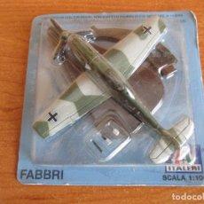 Maquetas: RBA: AVIONES Y HELICOPTEROS: MAQUETA EN METAL ITALERI ESCALA 1/100 : MODELO AVION BF-109 E. Lote 219856247