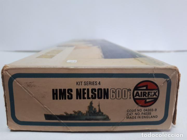 Maquetas: MAQUETA ACORAZADO INGLÉS HMS NELSON ESCALA 600 AIRFIX N 04203-9 BUQUE IIWW BÉLICA NAVAL INCOMPLETA - Foto 6 - 219860551