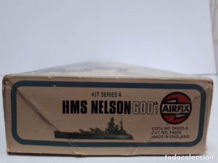 Maquetas: MAQUETA ACORAZADO INGLÉS HMS NELSON ESCALA 600 AIRFIX N 04203-9 BUQUE IIWW BÉLICA NAVAL INCOMPLETA - Foto 7 - 219860551