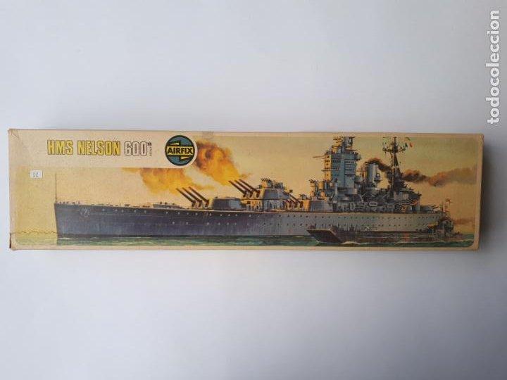 MAQUETA ACORAZADO INGLÉS HMS NELSON ESCALA 600 AIRFIX N 04203-9 BUQUE IIWW BÉLICA NAVAL INCOMPLETA (Juguetes - Modelismo y Radiocontrol - Maquetas - Barcos)