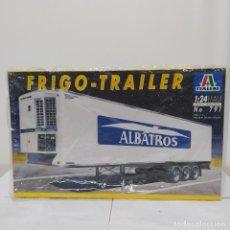 Maquetas: FRIGO TRAILER ITALERI 1/24. NUEVO Y COMPLETO.. Lote 220395555