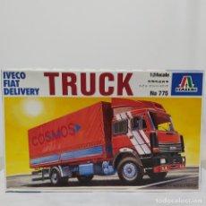 Maquetas: IVECO FIAT DELIVERY TRUCK ITALERI 1/24. NUEVO Y COMPLETO.. Lote 220402426