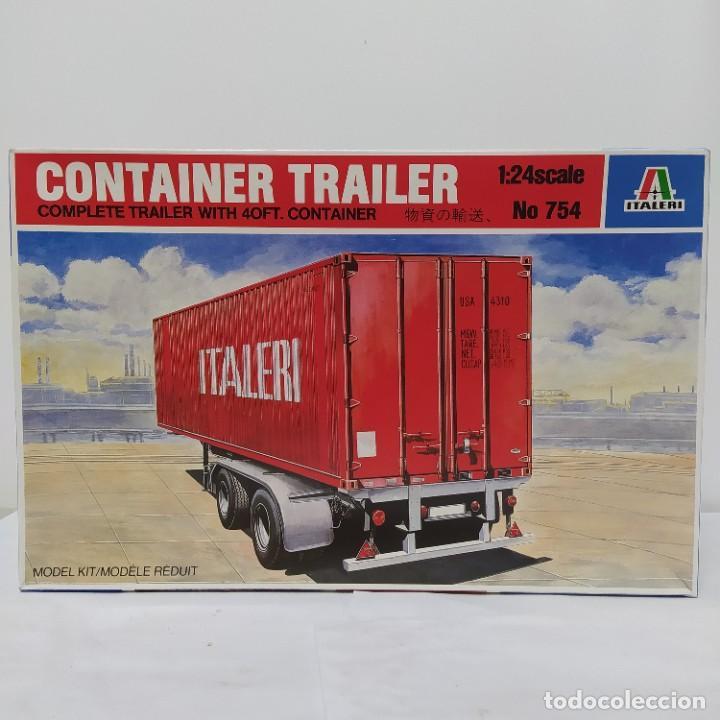 CONTAINER TRAILER ITALERI 1/24. NUEVO Y COMPLETO. (Juguetes - Modelismo y Radiocontrol - Maquetas - Coches y Motos)