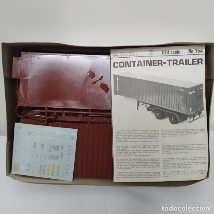 Maquetas: Container trailer italeri 1/24. Nuevo y completo. - Foto 2 - 220405411