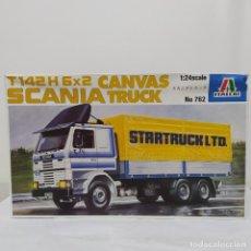 Maquetas: SCANIA T142H 6X2 CANVAS TRUCK ITALERI 1/24. NUEVO Y COMPLETO.. Lote 220407087