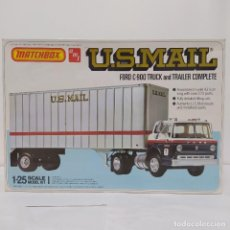 Maquetas: U. S.MAIL FORD C900 TRUCK AND TRAILER COMPLETE 1/25 AMT/ MATCHBOX. NUEVO Y COMPLETO.. Lote 220411050