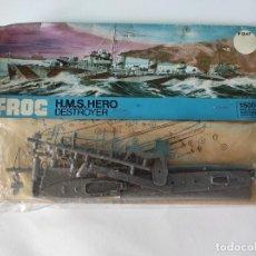 Maquetas: FROG H.M.S. HERO DESTROYER 1/500. Lote 220594775