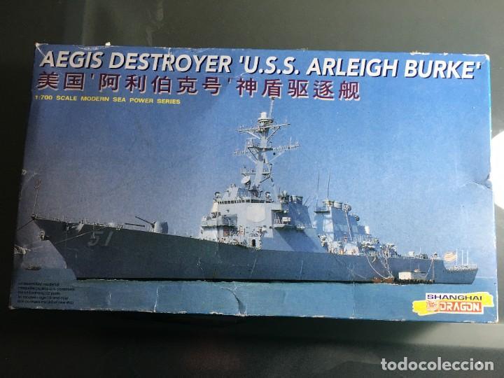 MAQUETA BARCO AEGIS DSTROYER U.S.S. ARLEIGH BURK DE DRAGON 1:700 (Juguetes - Modelismo y Radiocontrol - Maquetas - Barcos)