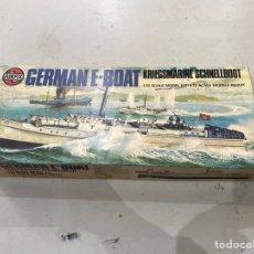 Maquetas: MAQUETA MILITAR AIRFIX - GERMAN E-BOAT 1/72. ORIGINAL DE LA ÉPOCA . VER LAS FOTOS. Lote 220935495