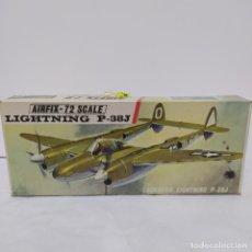 Maquetas: LOCKHEED LIGHTNING P-38J AIRFIX 72 SCALE. NUEVO Y COMPLETO. Lote 221300655