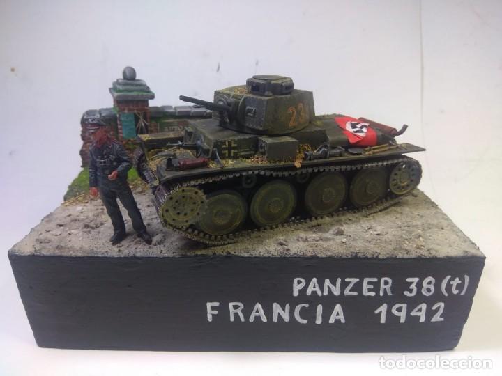 DIORAMA MILITAR MAQUETA -PANZER 38 (T)-FRANCIA 1942 (Juguetes - Modelismo y Radiocontrol - Maquetas - Militar)