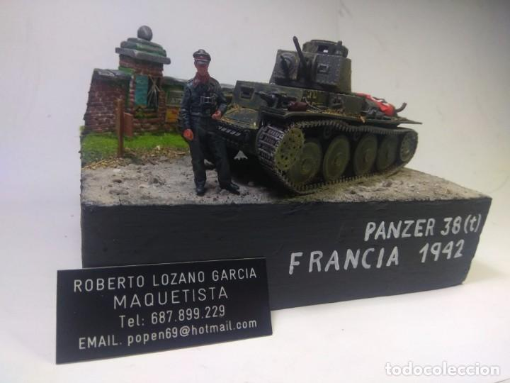 Maquetas: DIORAMA MILITAR MAQUETA -PANZER 38 (T)-FRANCIA 1942 - Foto 2 - 221355458