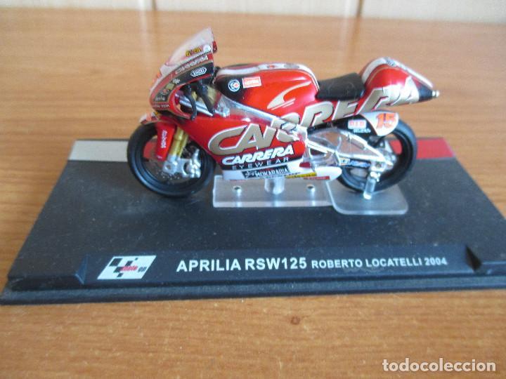 ALTAYA: MOTO GP - APRILIA RSW125 ( ROBERTO LOCATELLI 2004 ) (Juguetes - Modelismo y Radiocontrol - Maquetas - Coches y Motos)