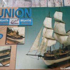 Maquetas: MAQUETA BARCO MADERA UNION - CONSTRUCTO. Lote 221495491