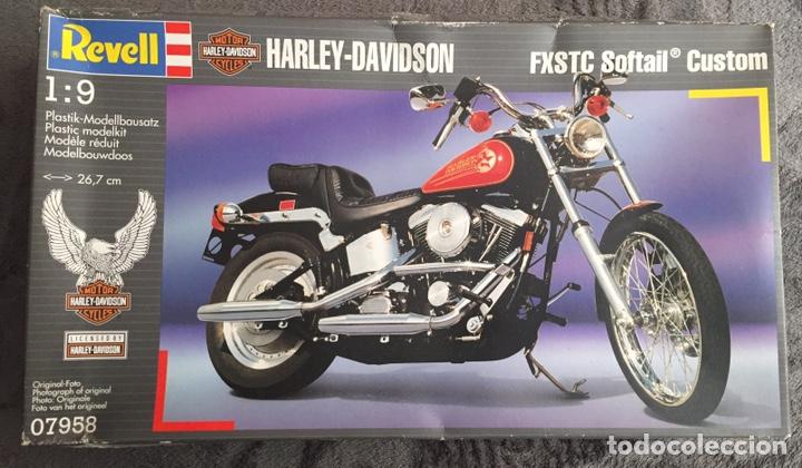 HARLEY DAVIDSON FXSTC SOFTAIL CUSTOM 1:9 REVELL 07958 MAQUETA MOTO (Juguetes - Modelismo y Radiocontrol - Maquetas - Coches y Motos)