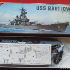 Maquetas: USS IOWA. ACORAZADO NORTEAMERICANO. SERIE DE 30 CMS DE NICHIMO. Lote 221529588