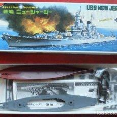 Maquetas: USS NEW JERSEY ACORAZADO NORTEAMERICANO. SERIE DE 30 CMS DE NICHIMO. Lote 221529771