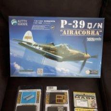 Maquetas: P-39 AIRACOBRA 1/32 MAQUETA KITTY HAWK + ACEESORIOS. Lote 221575138