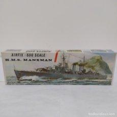 Maquetas: HMS MANXMAN AIRFIX 600 SCALE. NUEVO Y COMPLETO. Lote 221646608