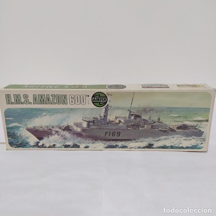 HMS AMAZON AIRFIX 600 SCALE. NUEVO Y COMPLETO (Juguetes - Modelismo y Radiocontrol - Maquetas - Barcos)