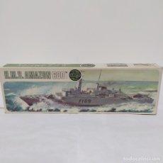 Maquetas: HMS AMAZON AIRFIX 600 SCALE. NUEVO Y COMPLETO. Lote 221647087
