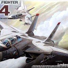 Maquetas: MAQUETA DEL CAZABOMBARDERO EMBARCADO GRUMMAN F-14A TOMCAT DE ACADEMY A 1/144. Lote 221719815