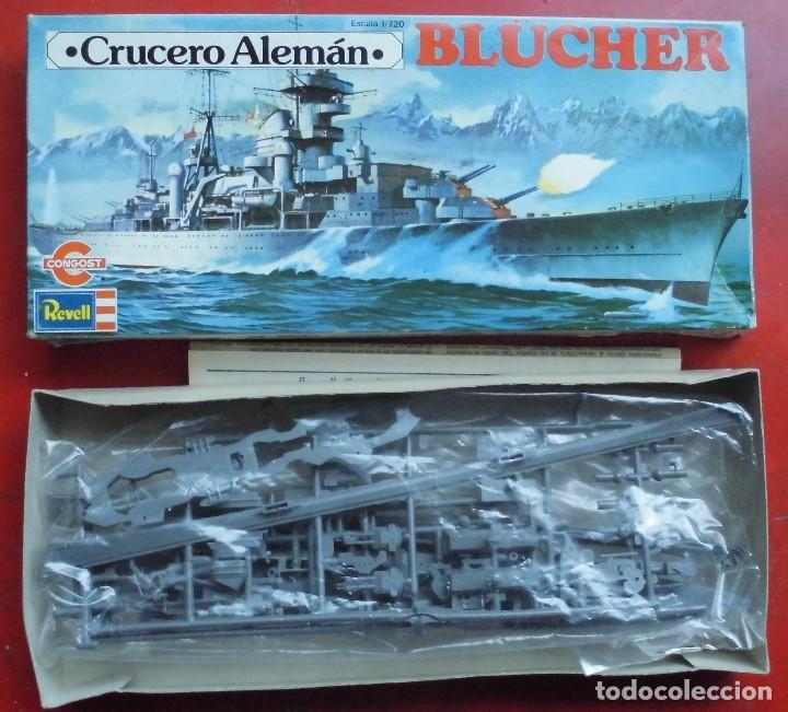 BLUCHER. CRUCERO PESADO ALEMÁN. REVELL ESCALA 1/720 MODELO NUEVO (Juguetes - Modelismo y Radiocontrol - Maquetas - Barcos)