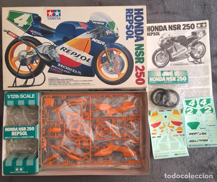 Maquetas: HONDA NSR 250 REPSOL (Cardus) 1:12 TAMIYA 14059 maqueta moto GP CARLOS CARDUS - Foto 4 - 221744646