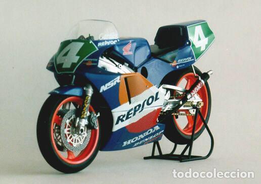 Maquetas: HONDA NSR 250 REPSOL (Cardus) 1:12 TAMIYA 14059 maqueta moto GP CARLOS CARDUS - Foto 7 - 221744646